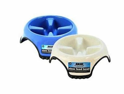 JW Skid Stop Slow Feed Dog Bowl Stop Rapid Eating Heavy Duty Dish, Large