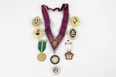 8 x Assorted Vintage MASONIC Medals, Jewels & Collar Base Metal