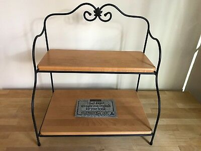 Longaberger Wrought Iron Small Bakers Rack complete with original shelves