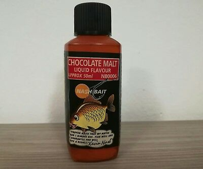 Nash Bait Chocolate Malt Liquid Flavour Aromi Carpfishing Raro Da Collezione
