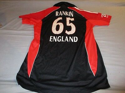 Boyd Rankin Cricket England Extra Large Mans no65 players worn / issued top