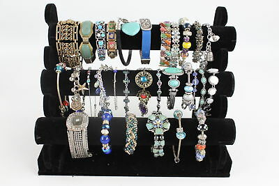 30 x Vintage & Retro BRACELETS inc. Leather, Enamel, Glass Bead