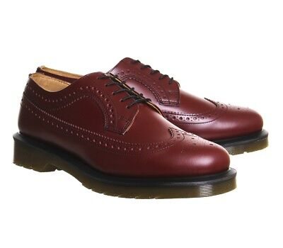 ec165d4500ed NEW Mens US Size 8 Doc DR MARTENS 3989 Wingtip Brogue Cherry Red Leather  Shoe