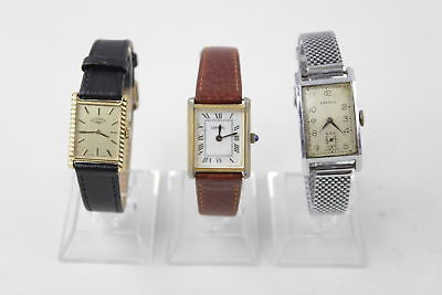 3 x Vintage UNISEX ART DECO Wristwatches Hand-Wind WORKING Inc. 1930's Medana