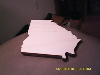 #44... Wooden State of Georgia Wall Plaque New Baltic Birch Plywood Unfinished