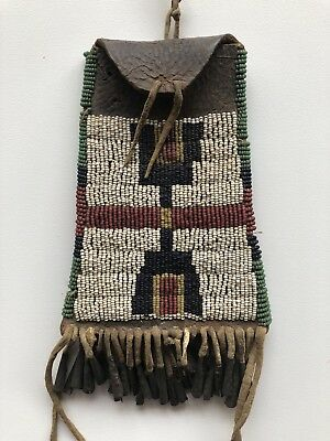 19th Century Plains Indian Beaded Bag