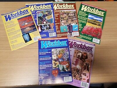 Crafting Magazine Bundle - Workbox - 6 Textile and Embroidery Issues from 2004