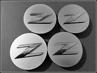 "4x 350Z CENTRE CAPS SET Z LOGO 18"" RAYS OEM ALLOY WHEEL CENTER"