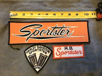 NOS Vintage Harley Sportster Jacket Patches, Lot Of 3