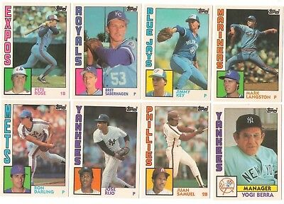 1984 Topps Traded Complete Team Set from Factory Set XRC Rookie Card RC Update