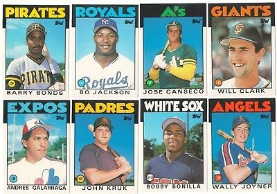 1986 Topps Traded Complete Team Set from Factory Set XRC Rookie Card RC Update