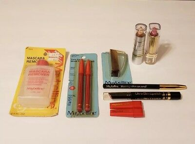 9 Piece All VINTAGE 1980s Maybelline Lot COLLECTION New Unused Unsealed & Sealed
