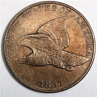 1857 Flying Eagle Cent Beautiful High Grade Coin
