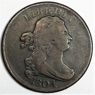 1804 Draped Bust Half Cent Beautiful High Grade Coin Rare Date