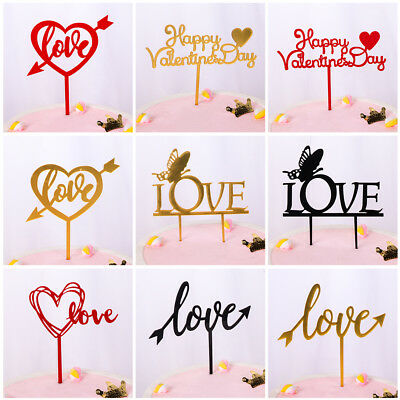 Cupcake Cake Decoration Valentine's Day Party Supplies Acrylic Cake Topper
