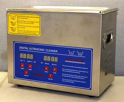 Unbranded PS-20A Digital Ultrasonic Cleaner 40kHz 3Liters New