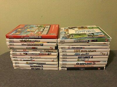 Lot of 21 Nintendo Wii Games Most Complete Fast Free Shipping!