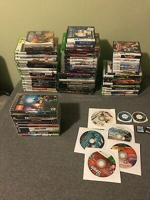 Huge Lot of Original Xbox Sony PS3 PSP Nintendo DS 360 Dreamcast Games!