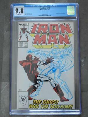 1987 Marvel Comics - Iron Man #219 - 1st Appearance of Ghost - CGC 9.8 White