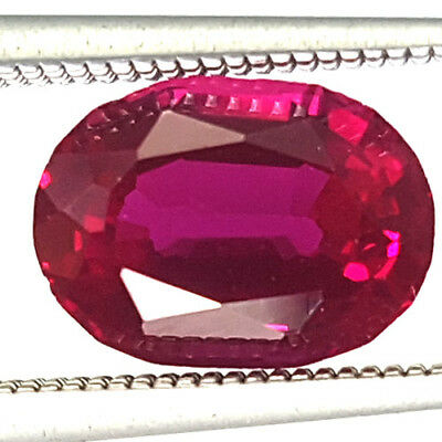 2.21 Cts 8Mm Vs2 Oval Unheat Berry Red Natural Ruby Loose Gemstone