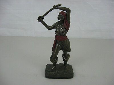 Vintage Bronze Woman Pirate Statue 10 !/2""