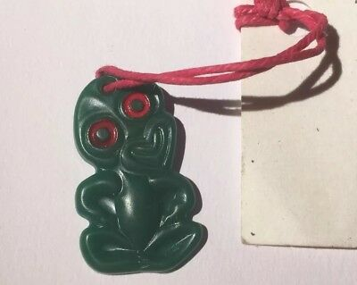 Vintage New Zealand Tiki Plastic With Card - Unbranded Excellent Condition