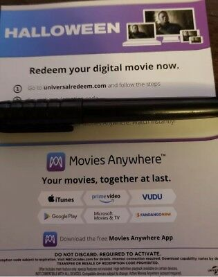 Halloween 2018 Movie Digital Code Only *PLEASE READ THE DESCRIPTION*