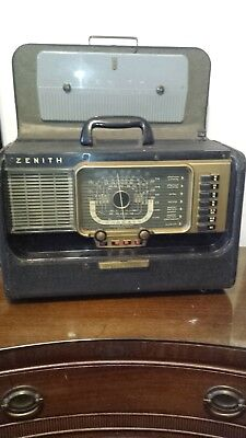 Rare Zenith Wave Magnet Portable Trans-Oceanic Military Radio H-500~1950's~5H40