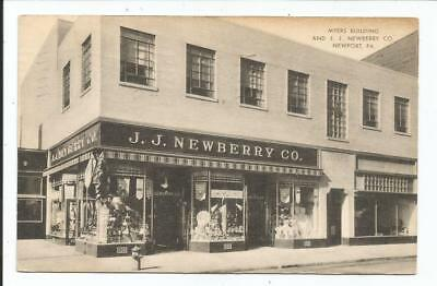 1953 JJ Newberry store postcard, Newport PA - Perry County