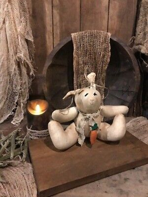 Primitive Bunny Rabbit Easter VINTAGE Handmade Cupboard Tuck Doll