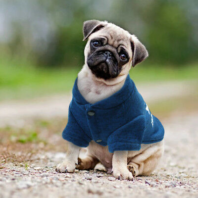 Winter Dog Clothes Warm Padded Dog Apparel Jacket Jumper for Chihuahua Blue S