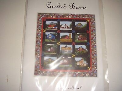Quilting Kit  Quilted Barns 42.5 x 46 Lap Quilt or wall hanging  -11-
