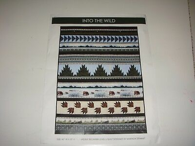 Quilting Kit - Into the Wild kit   41 X 55.  Top,binding and pattern -6-