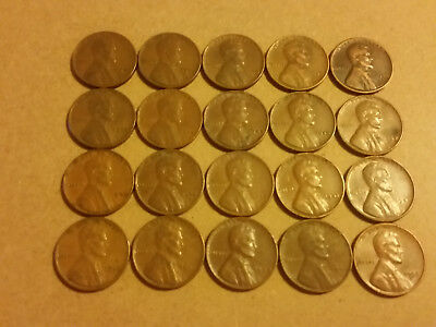 Set Of 40 Lincoln Pennies Range From 30S To 50S Period