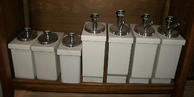 Vintage porcelain soda fountain syrup dispensers