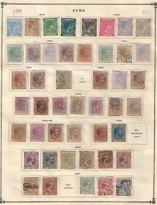 Spanish Colonies/dominion Early Stamps,1878-1914 Almost Cpl. 2 Pages Mint&used