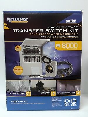 Reliance Back-Up Power Pre-wired 6-Circuit Complete Transfer Switch Kit