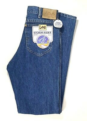 02b8e60e Vintage Lee Mens Jeans Size 31 x 36 Stone Washed Storm Rider Regular Fit USA  NWT