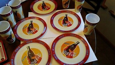 2002 - Vintage - Coca-Cola Collectible - Plastic Coke Plate - Drink Cold Coke