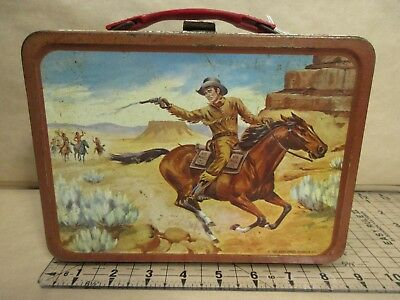 King-Seely US Mail Metal Lunchbox 1963 Deputy Marshal Cowboy Western