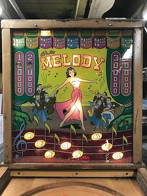 "1948 Bally ""Melody"" Pinball Machine"