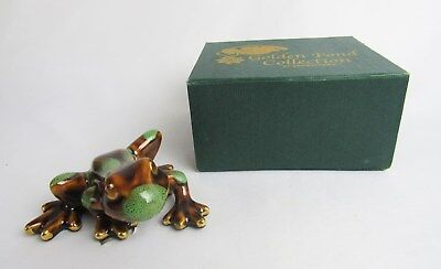 Golden Pond Collection Green Tree Frog #48900B Figurine with Original Satin Box