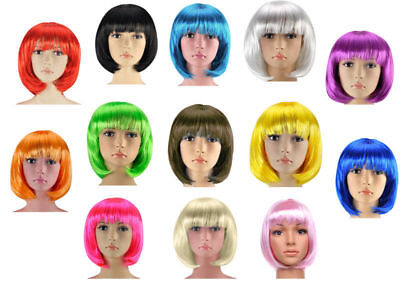 Ladies Womens Fashion Short Bob Style Full Wig Fancy Dress Party Cosplay Mens