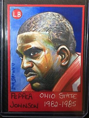 Ohio State Buckeyes Gridiron Legends Pepper Johnson Base Card # /50