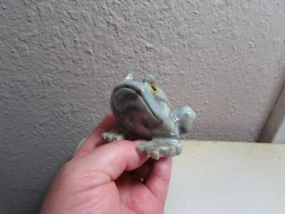 Frog or Toad, Hand carved Marble from the Andes of Peru Uniquely Hued Stone Frog