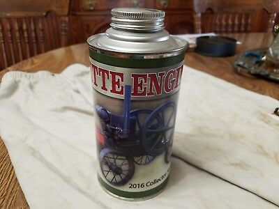 NICE Witte Gas Engine Collector Cone Top Can with Image and History++ No Reserve