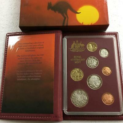 1989 Australia 8 Coin Proof Set R.A.M. Issue in Original Box with COA