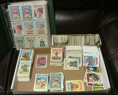 Garbage pail kids card lot approx 2000 cards huge binder full many others
