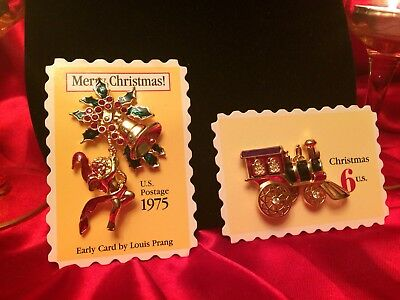 Christmas Angel & Train Pins