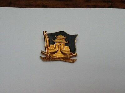 French Naval Badge  1950 / 1960 , Metal And Enamel/paint .